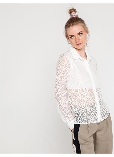Love'n Fashion Paris Şifon Gömlek Ekru